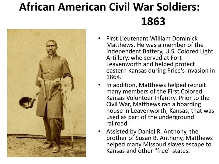"a history of the african american troops in the civil war Inspired and informed by the latest research in african american, military, and social history african american troops in the civil war era"" cancel reply."