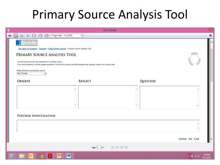 Primary source analysis essay history