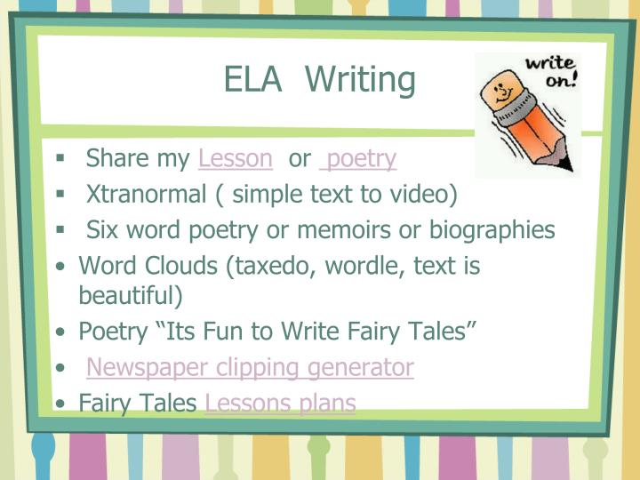 ELA  Writing