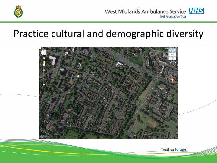 Practice cultural and demographic diversity