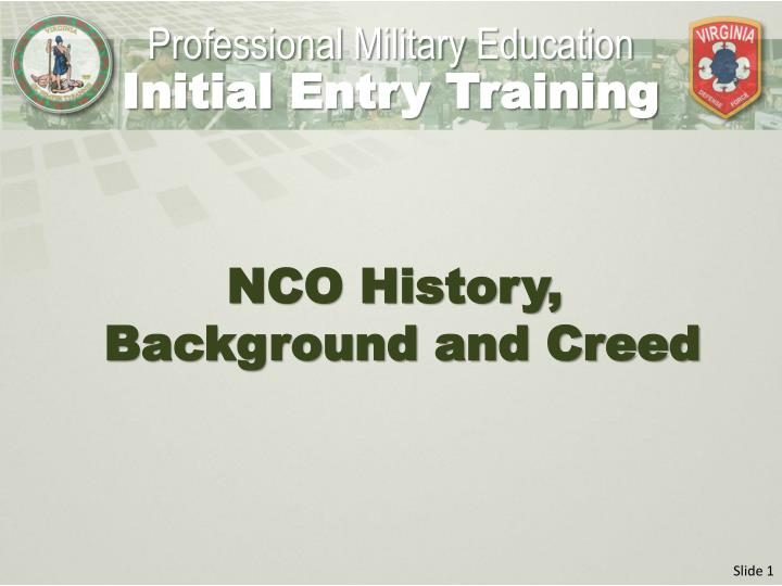 essay on what the nco creed means Papers and articles the nco corps and the nco creed i have found young ncos who cannot answer those questions nor explain exactly what the nco creed means to.