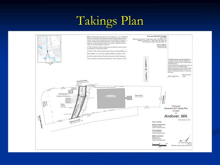 Takings Plan