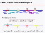 lower bound interleaved repeats
