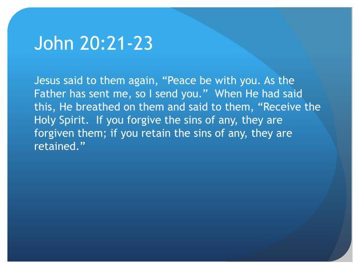 John 20:21-23