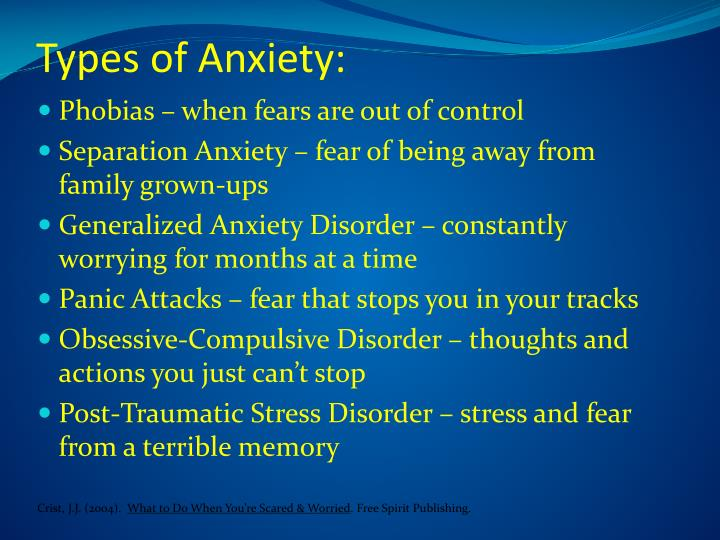 Types of Anxiety: