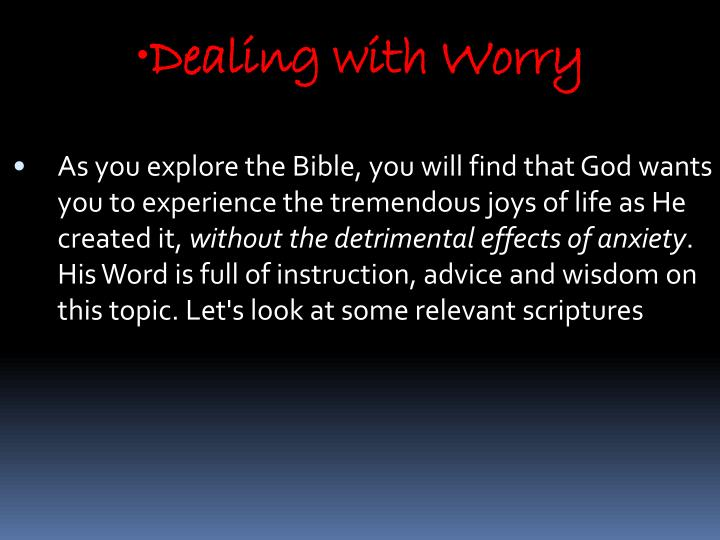 Dealing with Worry