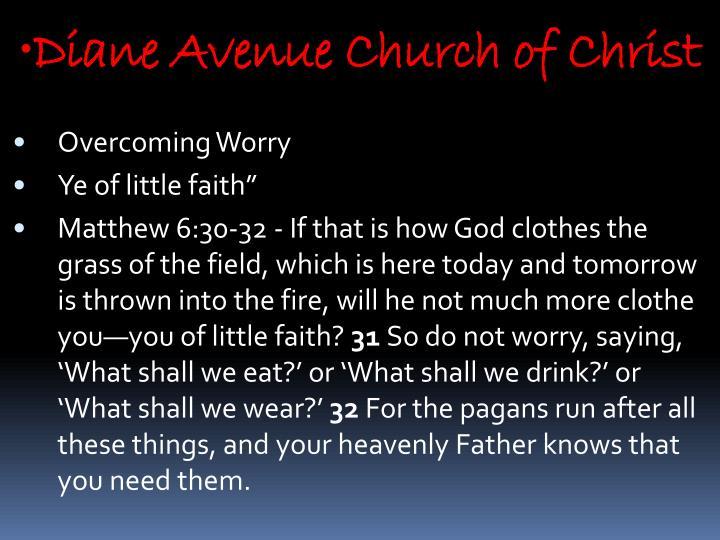 Diane Avenue Church of Christ