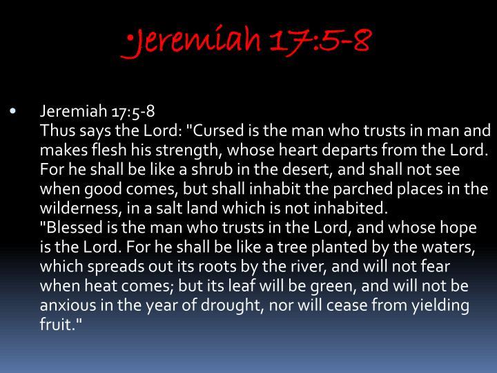 Jeremiah 17:5-8