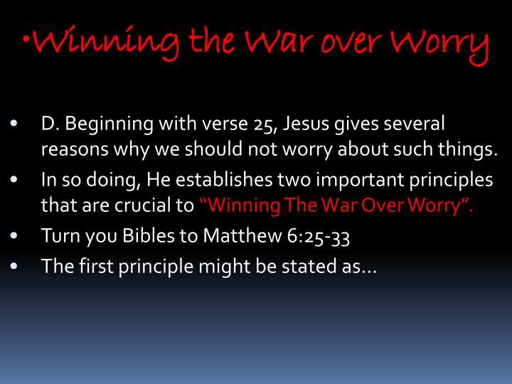 Winning the War over Worry