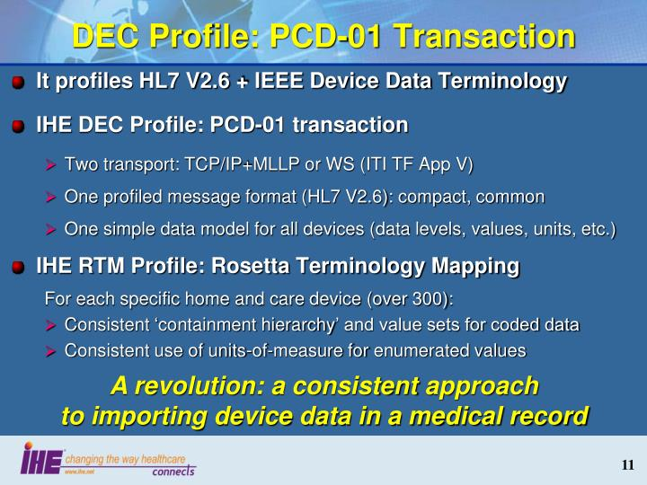 DEC Profile: PCD-01 Transaction