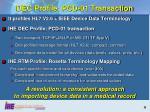 dec profile pcd 01 transaction