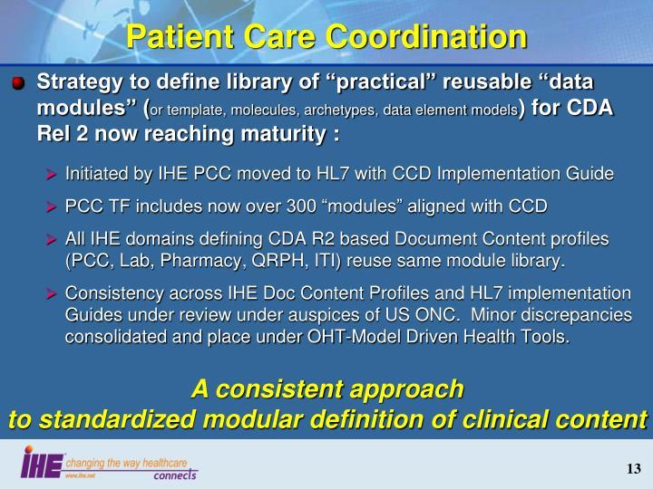 Patient Care Coordination