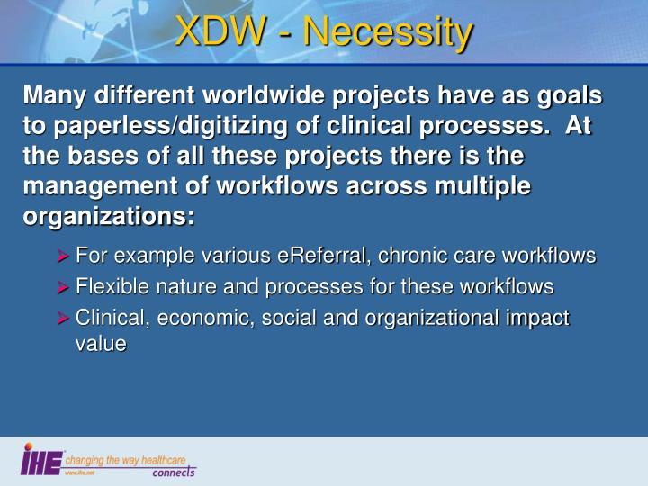 XDW - Necessity