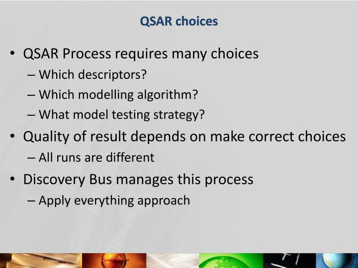 QSAR choices
