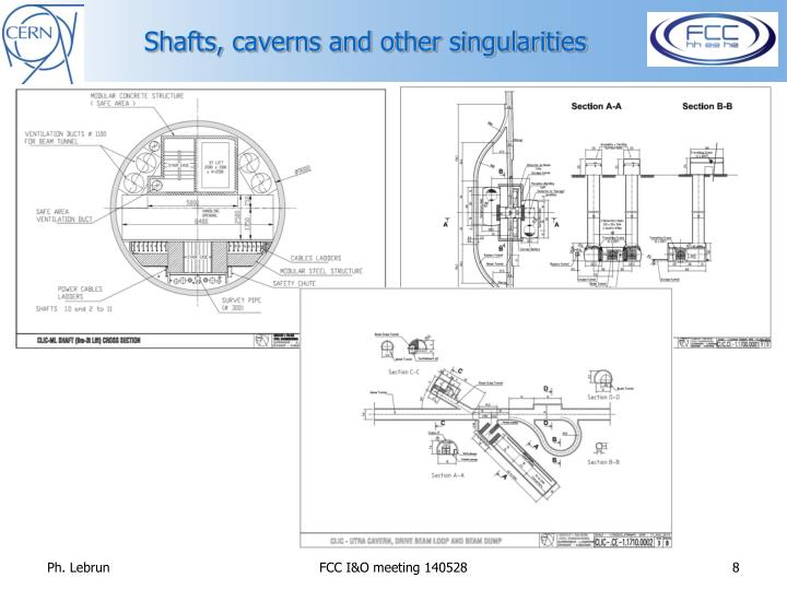 Shafts, caverns and other singularities