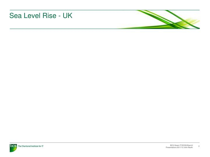 Sea Level Rise - UK