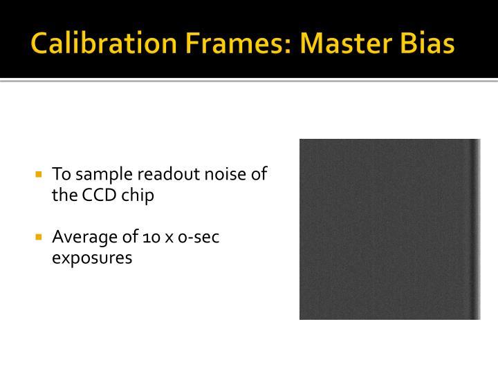 Calibration Frames: Master Bias