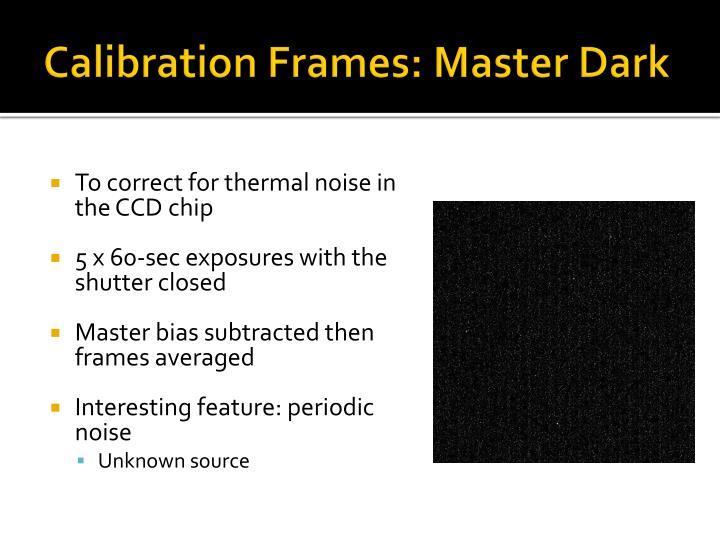 Calibration Frames: Master Dark