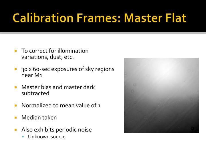 Calibration Frames: Master Flat