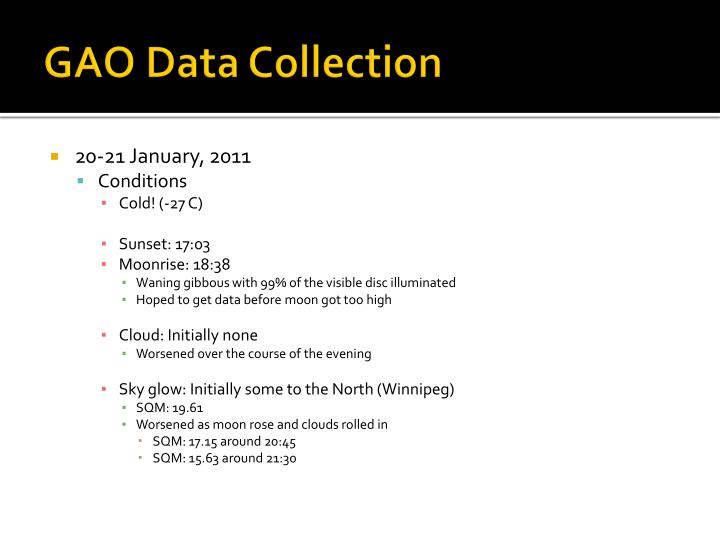 GAO Data Collection