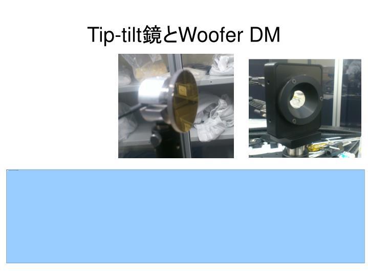Tip-tilt鏡とWoofer DM