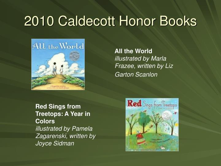 2010 Caldecott Honor Books