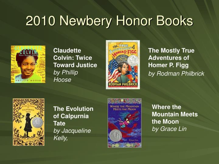2010 Newbery Honor Books