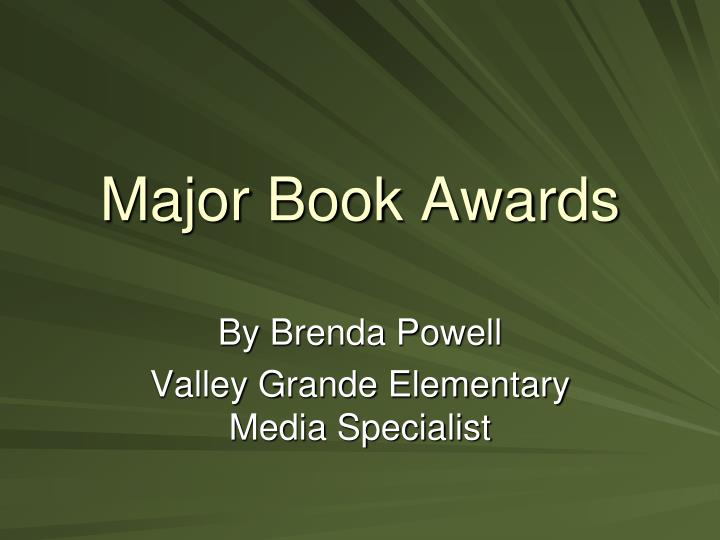 Major book awards