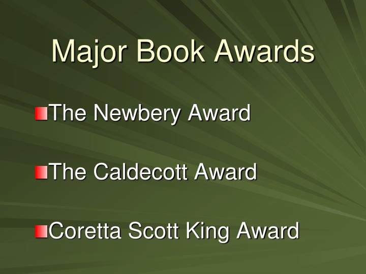 Major book awards1