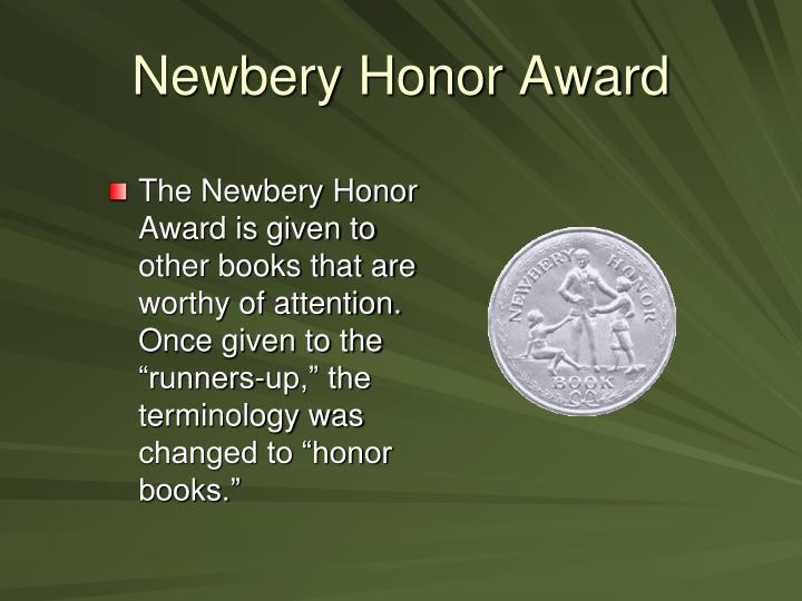 Newbery Honor Award