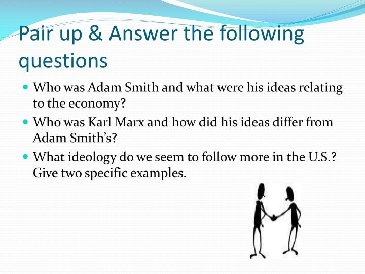 Pair up & Answer the following questions