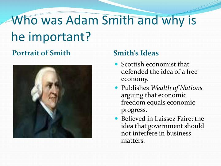 Who was Adam Smith and why is he important?