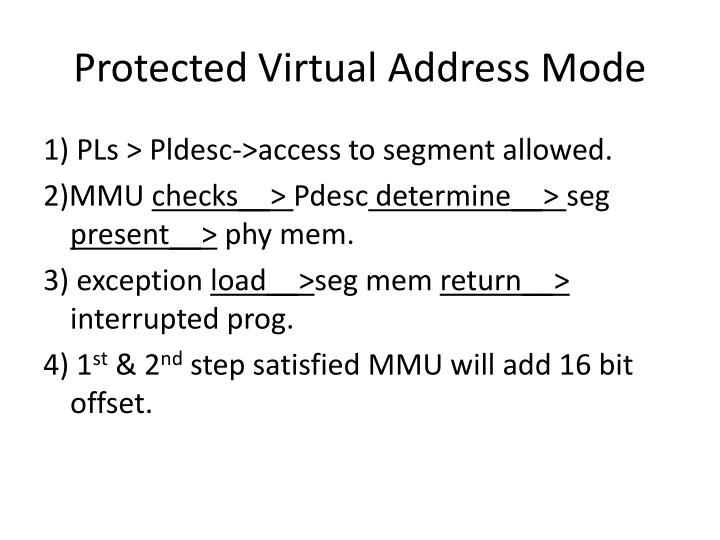 Protected Virtual Address Mode