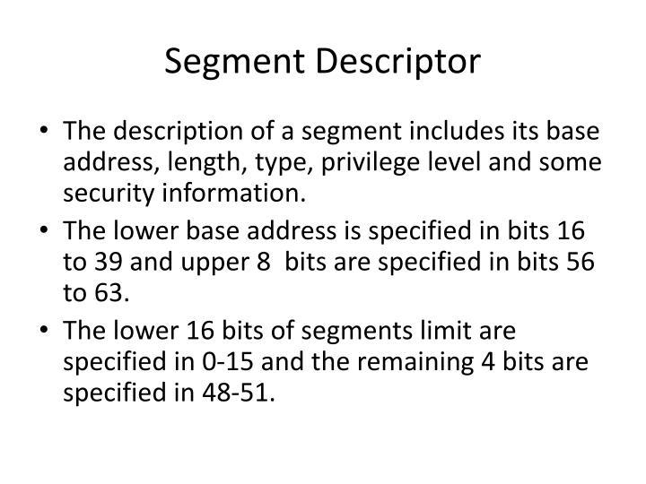 Segment Descriptor
