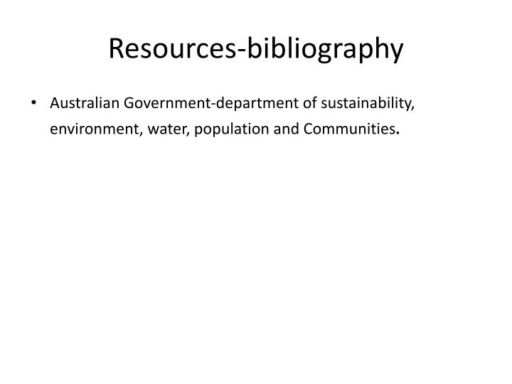 Resources-bibliography