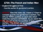 1754 the french and indian war