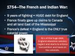 1754 the french and indian war1