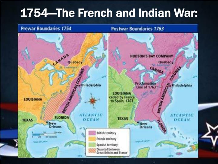 1754—The French and Indian War: