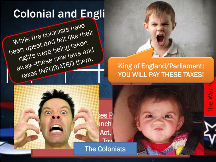 Colonial and English Tensions Build…