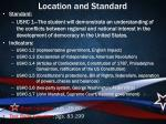 location and standard