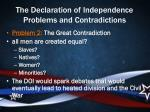 the declaration of independence problems and contradictions3