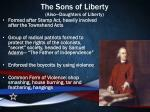 the sons of liberty also daughters of liberty