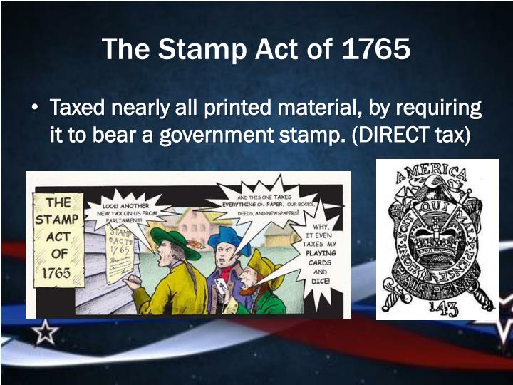 The Stamp Act of 1765