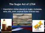 the sugar act of 1764