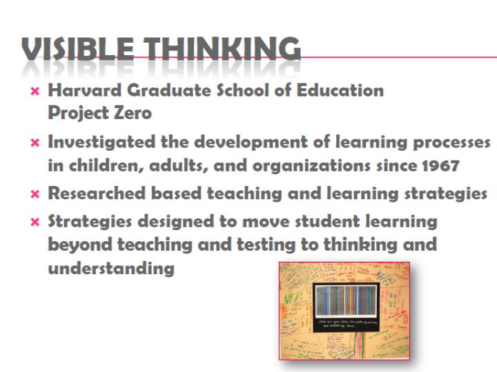 Making thinking visible using thinking routines in the classroom
