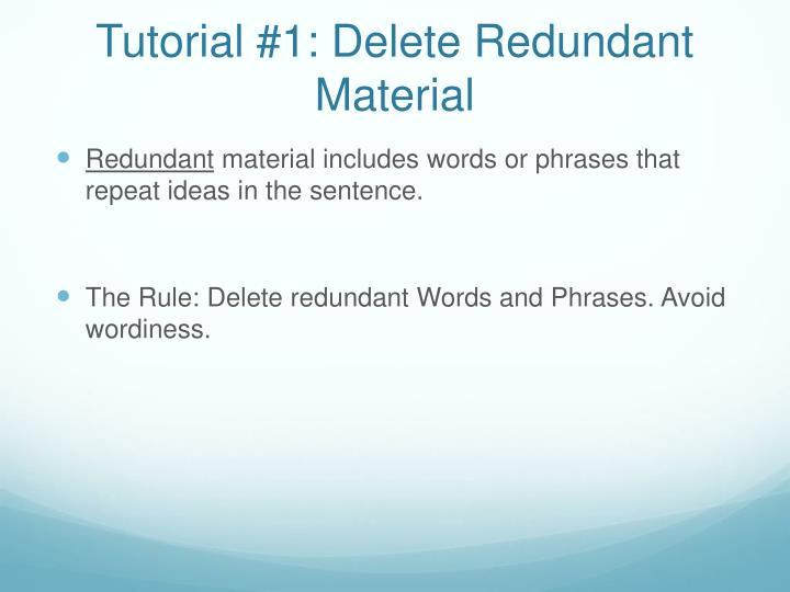Tutorial #1: Delete Redundant Material
