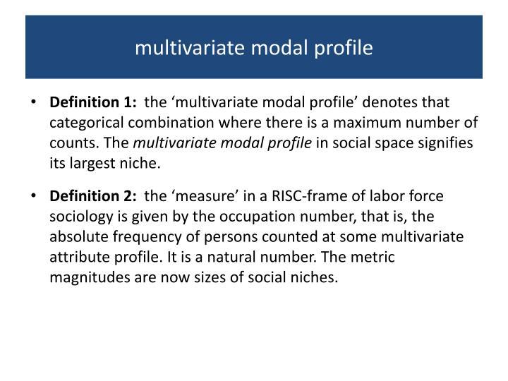 multivariate modal profile
