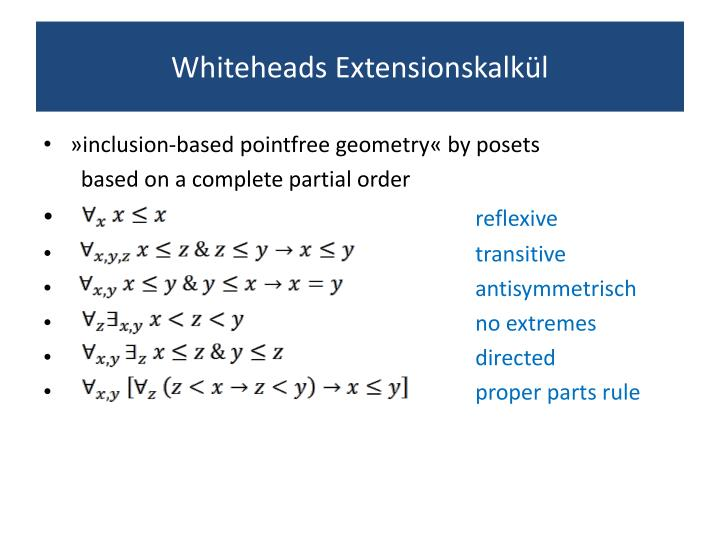 Whiteheads extensionskalk l