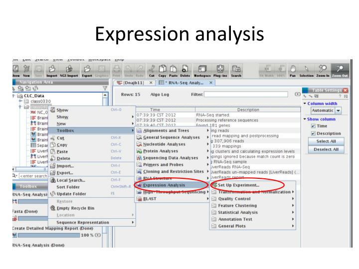 Expression analysis