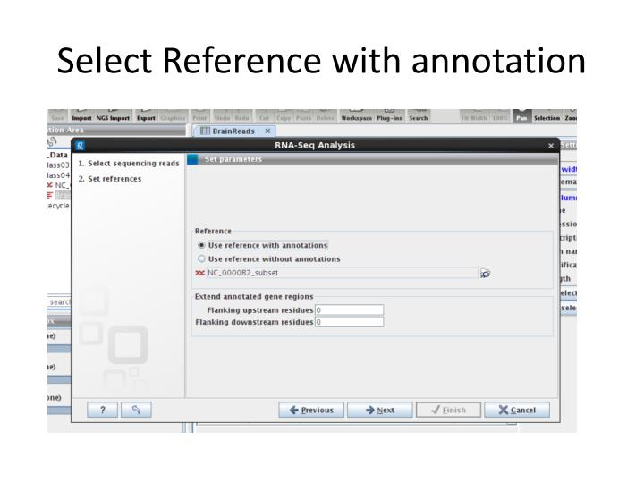 Select Reference with annotation